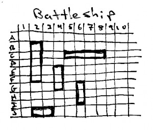 Battleship pen and pencil game