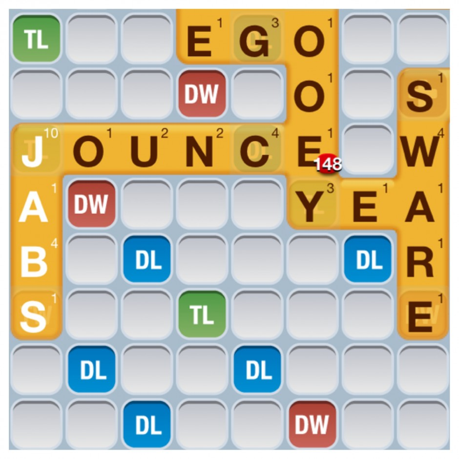 Words With Friends Great Play